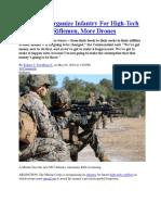 Marines Reorganize Infantry