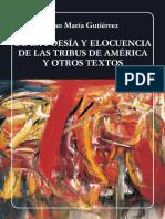 Nc-la Poesia y Elocuencia de Las Tribus de America y Otros Textos