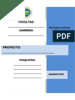 Formato de Proyecto