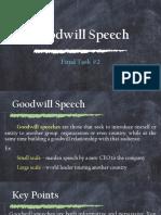 Goodwill Speech