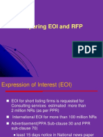 2. Preparing EOI , RFP , Criteria