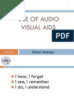 (Use of Audio Visual Aids)