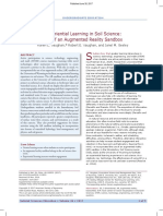 Experiential learning in soil sciences