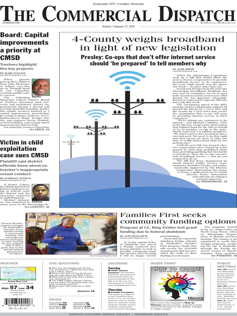 Commercial Dispatch eEdition 1-27-19   Mississippi   Facebook