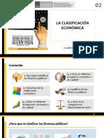 Clasificacion Economica de Los Fondos Publicos MEF