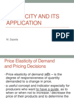 3.1. Elasticity and Its Application