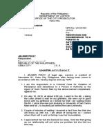 Counter Affidavit Jelmer Pikoy