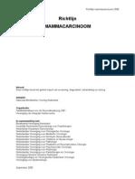 Richtlijn mammacarcinoom 2008