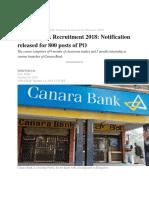 Canara Bank PO Exam