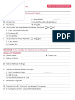 Reliance Health Insurance  Pre Authorisation Form