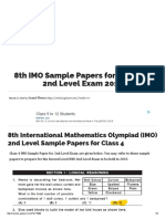 234749189 8th IMO Sample Papers for Class 4 2nd Level Exam 2015
