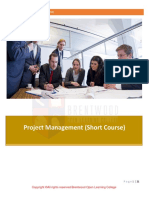 Project Management Short Course