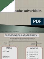 Tipos de Subordinadas Adverbiales