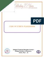 Code Ethics Plagiarism