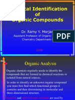 Chemical IDENTIFICATION of Organic Compounds