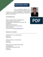 Curriculum Vitae - Wilder Fernando Ramos Llatas