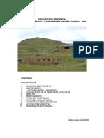 Proyecto Sondor Raymi 2008