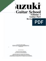 Suzuki Guitar Vol.1