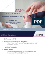 PQCNC 2019 Maternal/Newborn Initiative Kickoff - Obstetric and Neonatal Metrics from the Administrative Data Set