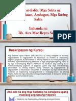 Front Page Para Sa Brochure