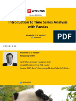 Alexander Hendorf Introduction to Time Series Analysis With Pandas