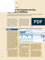 Lectura- Descifrar Las Facturas de Agua, Electricidad, Gas y Telefono