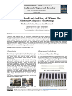 Experiment and analytical study of different fiber reinforced composites with damage