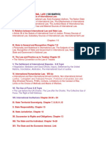 International Law Study Plan