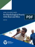 Boys Men Practice Guidelines