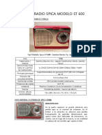 Analisis Radio Spica Modelo St 600