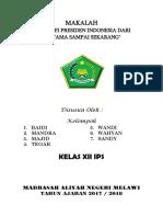 MAKALAH Presiden Indonesia