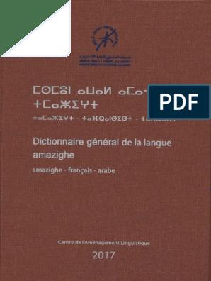 PDF ARABE TÉLÉCHARGER TAMAZIGHT DICTIONNAIRE