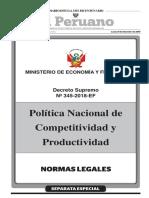 Bolivia Ley Nro 070 2010