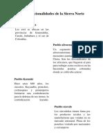 Pueblos y Nacionalidades de La Sierra Norte