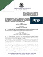 Resolução 207 Código de Ética e Deontologia Do CFB 1