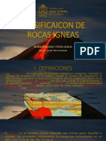 Clasificaicon de Rocas Igneas