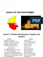 NOTES FOR KANNADA