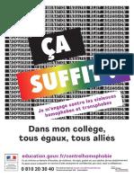 Affiche de campagne du gouvernement dans la lutte contre l'homophobie en milieu scolaire