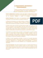 FACTORES PREDISPONENTES Para El Desarrollo de a Criminogeneis