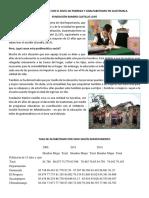 Datos Relacionados Con El Nivel de Pobreza y Analfabetismo en Guatemala