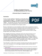 NYC Crisis Response Discussion Paper - For Distribution