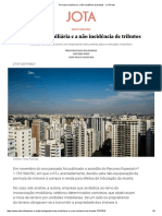 Permuta Imobiliária e a Não Incidência de Tributos - JOTA Info