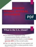 Communication Studies IA Pres