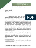 El significado de la obra de Melanie Klein en el pensamiento psicoanalítico.- M. BARANGER.pdf
