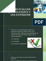 como evaluar un evento y una exposición.pptx