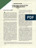 Horacio Cerutti Gulberg - Los Valores en la educación en el próximo milenio - Revista Ceilat 1997