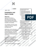 Installation and User's Guide - IBM Blade Center JS22