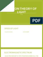 Photon Theory of Light