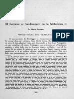 ElRetornoAlFundamentoDeLaMetafisica-Heidegger