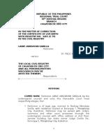 Correction of Entry Birth Certificate-sarilla